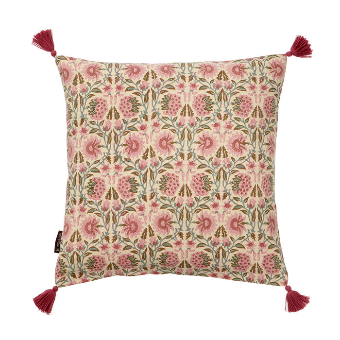 Cotton Block Printed Cushion Deoli Rosy