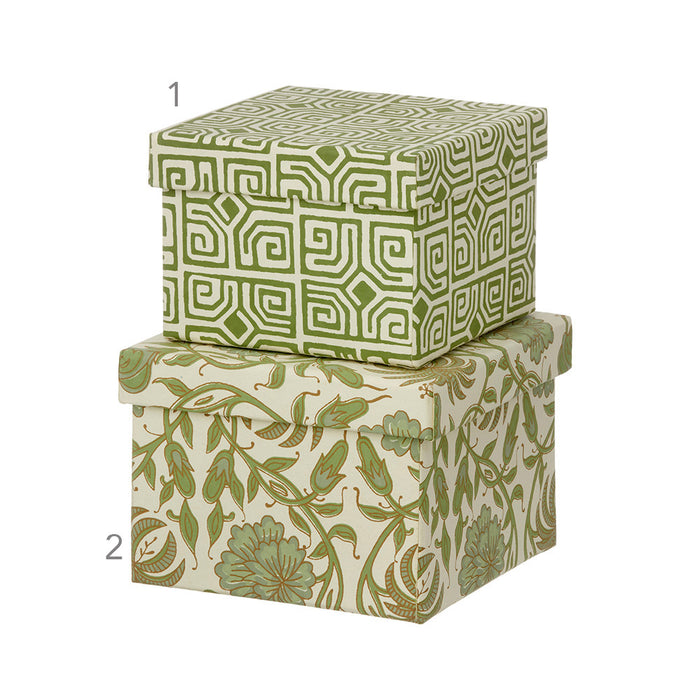 Thilla Leaf Green Cubic Boxes