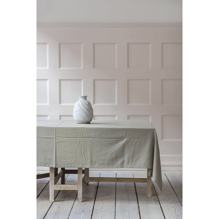 Stone Grey Cotton Tablecloth