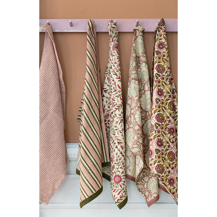 Shimla Blush Cotton Tea Towel