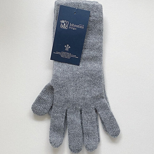Women's Cashmere Gloves in Light Grey