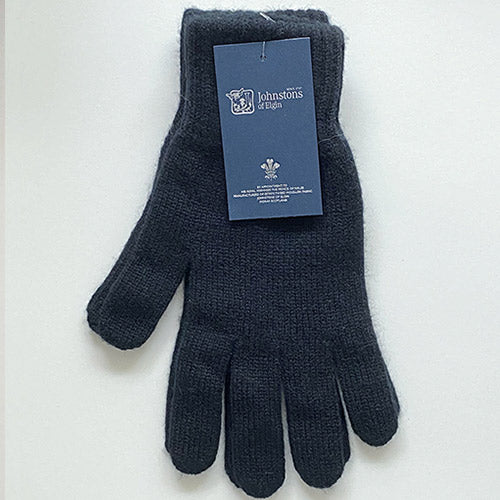 Men's Cashmere Gloves in Black