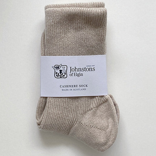 Women's Cashmere Socks in Natural