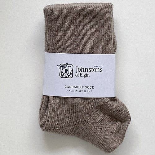Women's Cashmere Socks in Otter