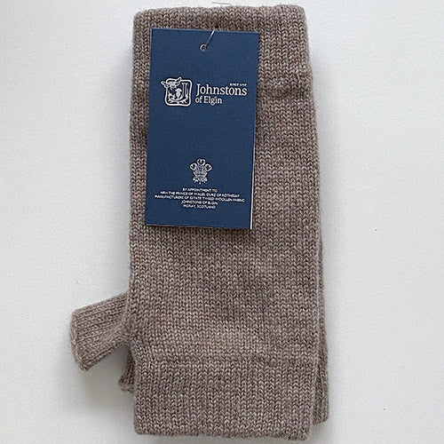 Cashmere Wrist Warmers in Otter
