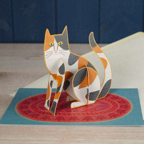 Cat Die Cut Pop Out Greeting Card