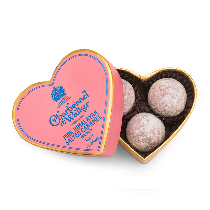 *NEW* Pink Himalayan Salted Caramel Chocolate Truffles – Pink Mini Heart