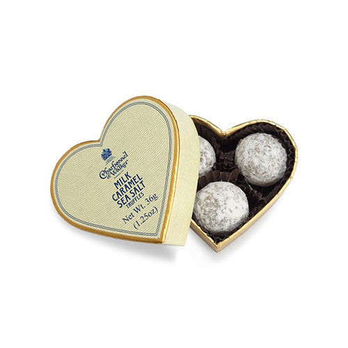 Heart Milk Caramel Sea Salt Truffles