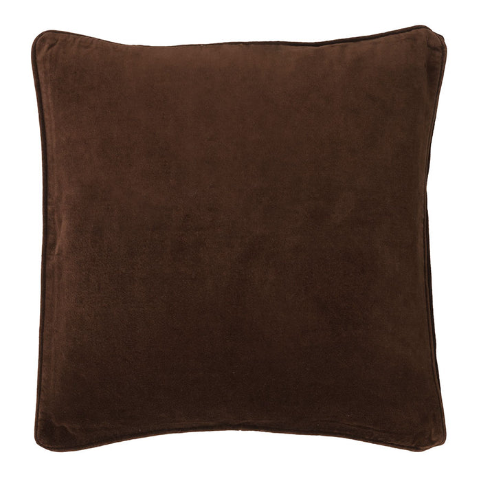 Chocolate Cotton Velvet Cushion