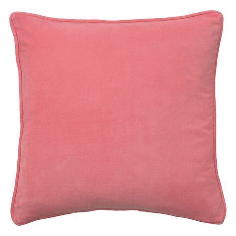Coral Blossom Cotton Velvet Cushion