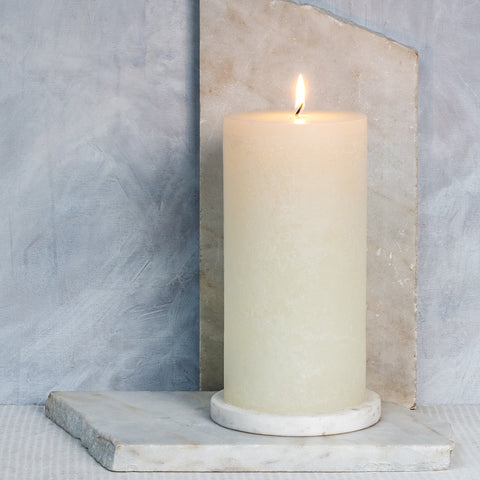 Cotton Scented Pillar Candle 10 x 20 cm