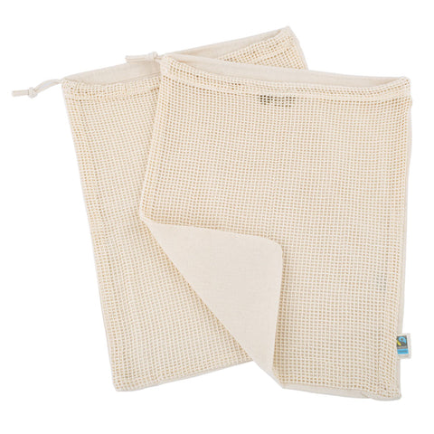 Set of Two Cotton Vegetable Bags