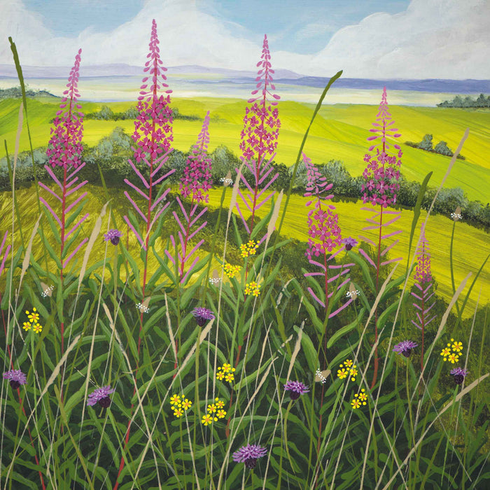 Willow Herb by Carla Vize-Martin Greeting Card