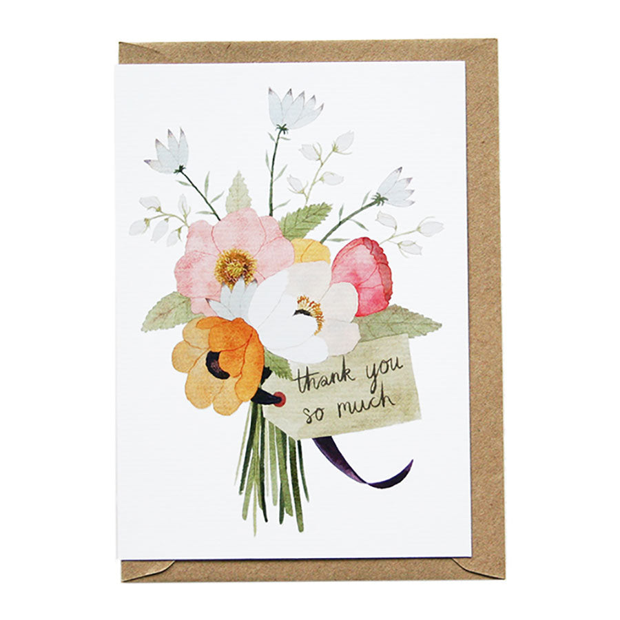 Thank You So Much Flowers Greeting Card