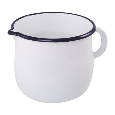 Enamel Jug in Navy and White