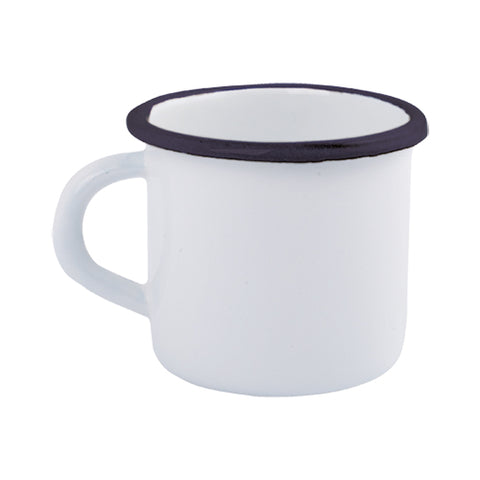 Enamel Mug in Navy and White