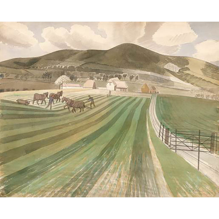 Mount Caburn By Eric Ravilious