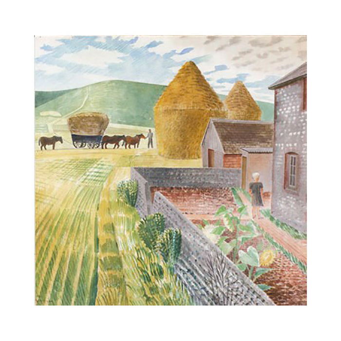 Notecards: Garden Flowers on Cottage Table and Furlongs Greetings Cards by Eric Ravilious