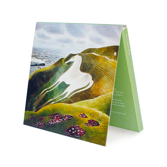 Notecards: White Horse and Train, and The Waterwheel Greeting Cards by Eric Ravilious