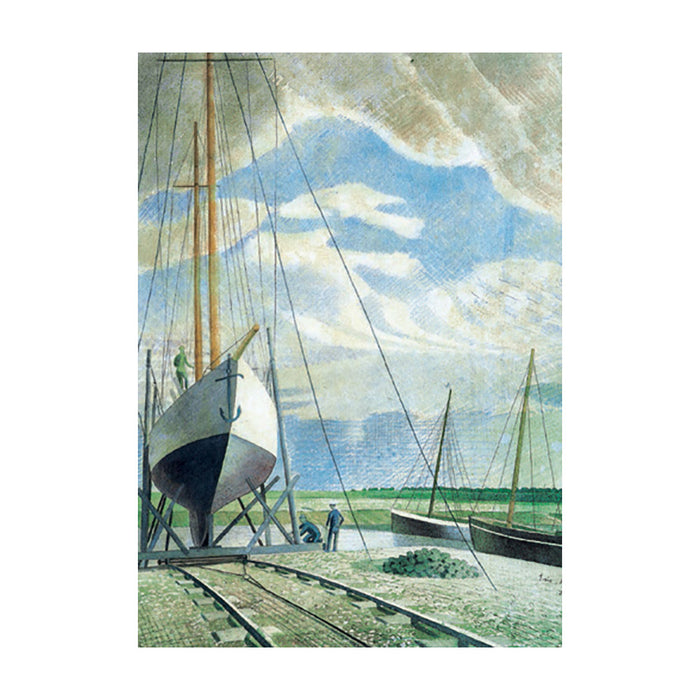 The Boatyard By Eric Ravilious Greeting Card