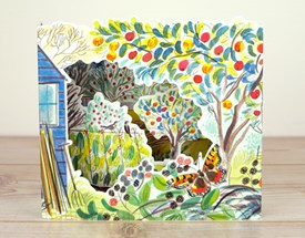 Orchard 3D Allotment by Emily Sutton Die Cut Greeting Card