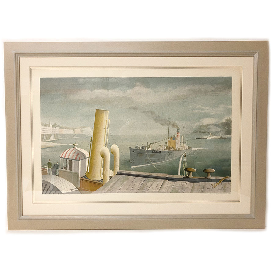 Framed Drifter And Paddle Steamer By Felix Kelly