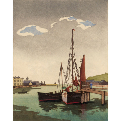 Fishing Boats, Newhaven 1935 By Eric Slater