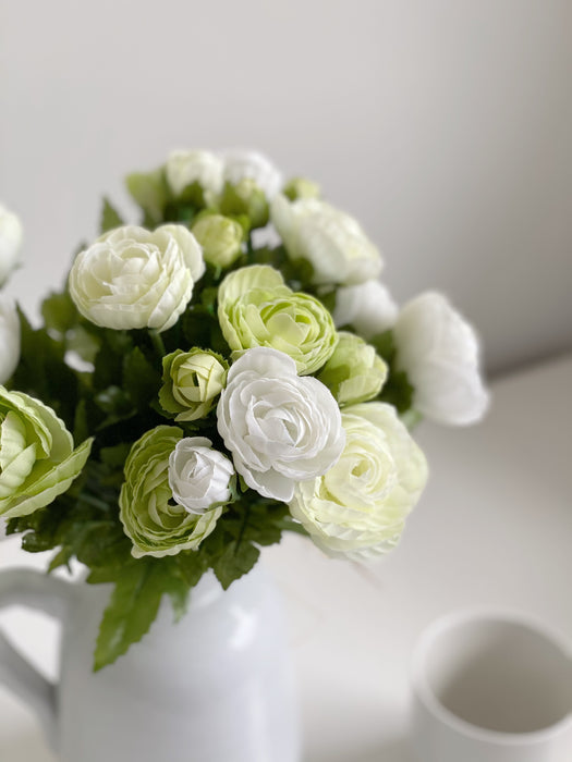 The White Ranunculus Bunch