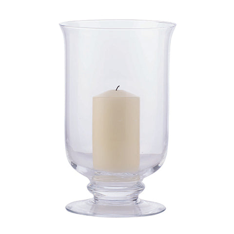 Glass Hurricane Lantern in Medium