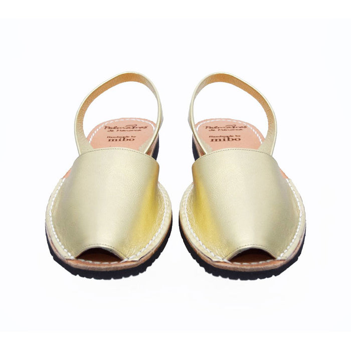 Palmaira Leather Sandal In Gold