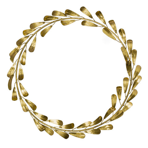 Large Golden Mistletoe Wreath
