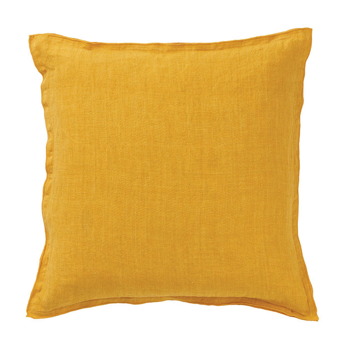 Golden Ochre Cotton Linen Cushion
