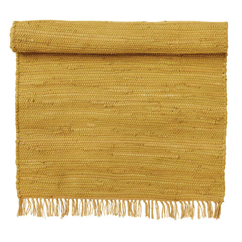 Recycled Golden Cotton Rug