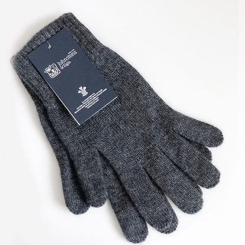 Men's Cashmere Gloves in Granite Grey