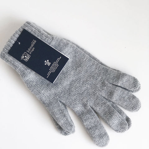 Men's Cashmere Gloves in Light Grey