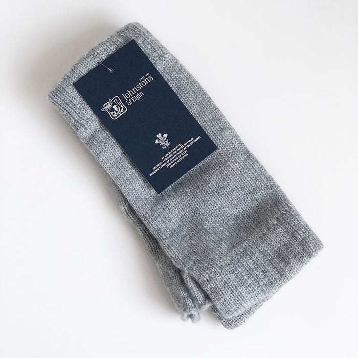 Unisex Cashmere Wrist Warmers in Light Grey