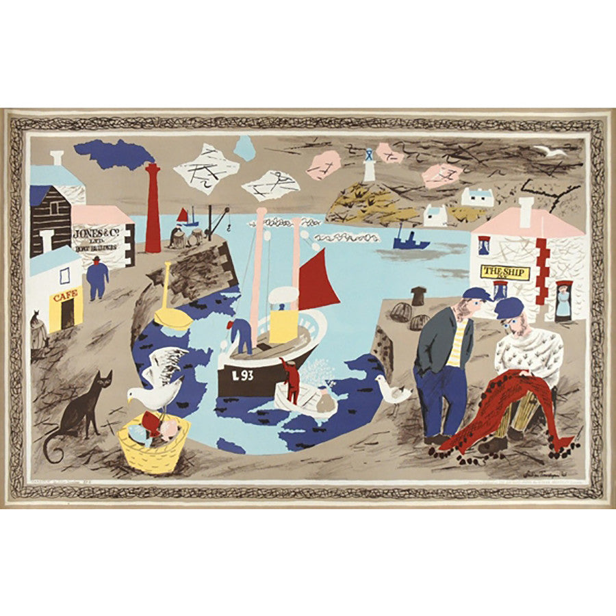 Harbour | School Prints By Julian Trevelyan