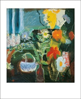 Flowers, 1942 by Ivon Hitchens (1893-1979) Greeting Card
