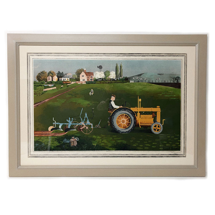 Framed Tractor | School Prints By Kenneth Rowntree