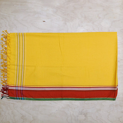 Cotton Kikoy in Yellow/Red Border