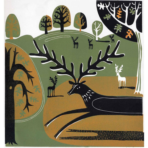 Knole Stag By Melvyn Evans