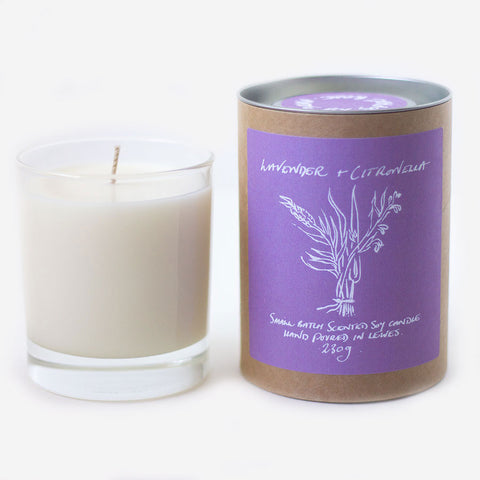 Lavender + Citronella Scented Soy Candle