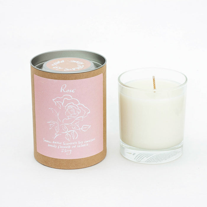 Rose Scented Soy Candle Refill
