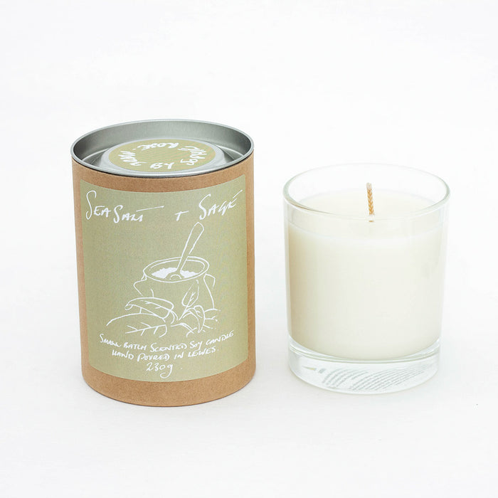 Sea Salt + Sage Scented Soy Candle Refill