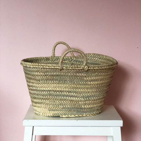 Madeline Hand Woven Basket in Midi