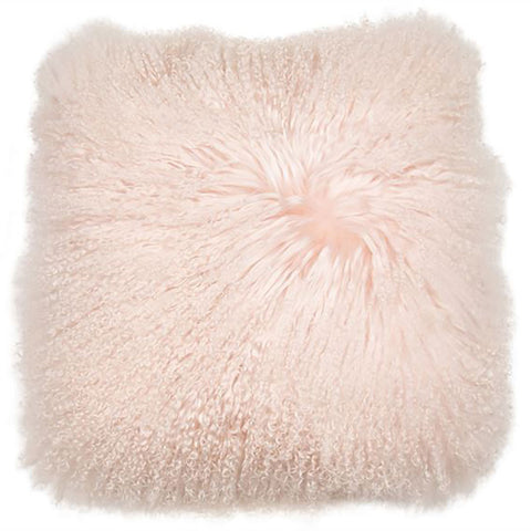 Tibetan Wool Cushion in Pink