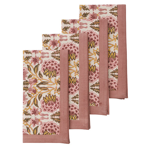 Set Of 4 Deoli Curry Napkins