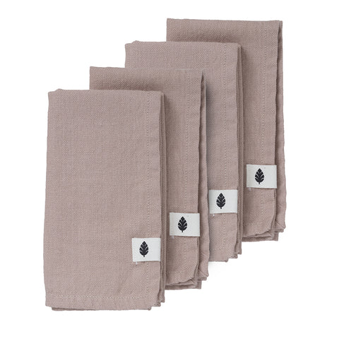 Set Of 4 Saara Blush Cotton Napkins