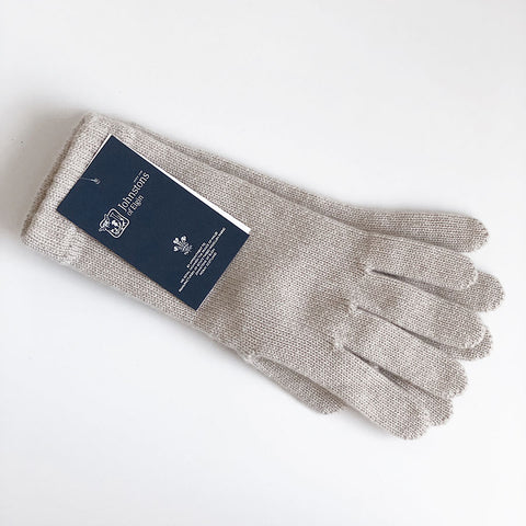 Women's Cashmere Gloves in Natural