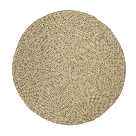 Set of 4 Natural Round Placemats